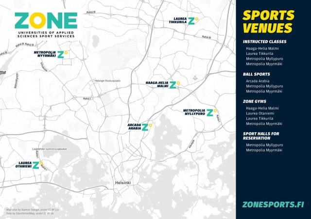 Zone Sports facilities fall 2020